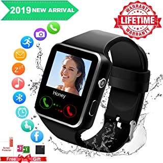 Smart Watch,Smartwatch for Android Phones, Smart Watches Touchscreen with Camera Bluetooth Watch Phone with SIM Card Slot Watch Cell Phone Compatible Android Phone XS X8 7 6 5 Men Women (Black New)