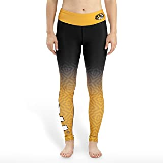 Forever Collectibles NCAA Womens Missouri Tigers Gradient Print Leggings, Black