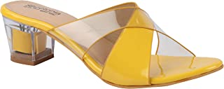 Shoetopia Womens/Girls Transparent Colourblocked Heels
