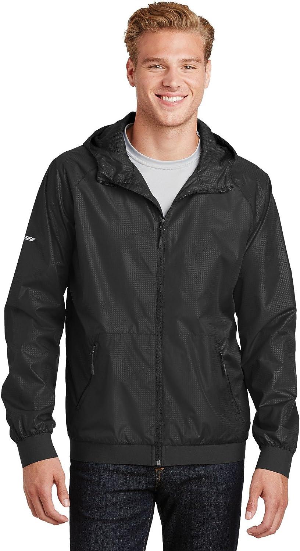 SPORT-TEK Embossed Hooded Wind Jacket F20