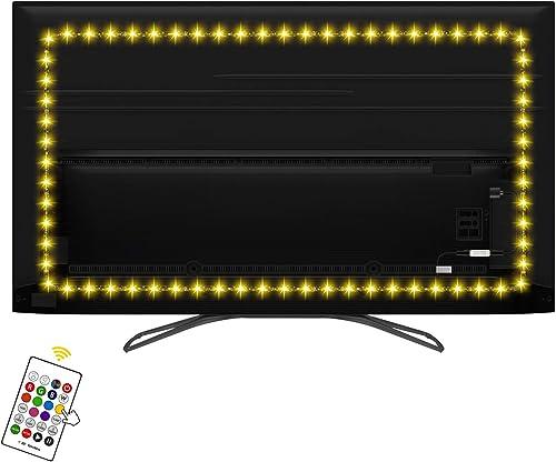 HAMLITE LED TV Backlight 65 Inch TV Bias Lighting USB LED Light Strip for TV Wall Ambient Lighting, Home Theater Deco...