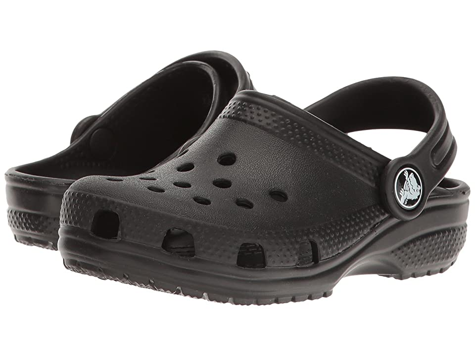 Crocs Kids Classic Clog (Toddler/Little Kid) (Black) Kids Shoes