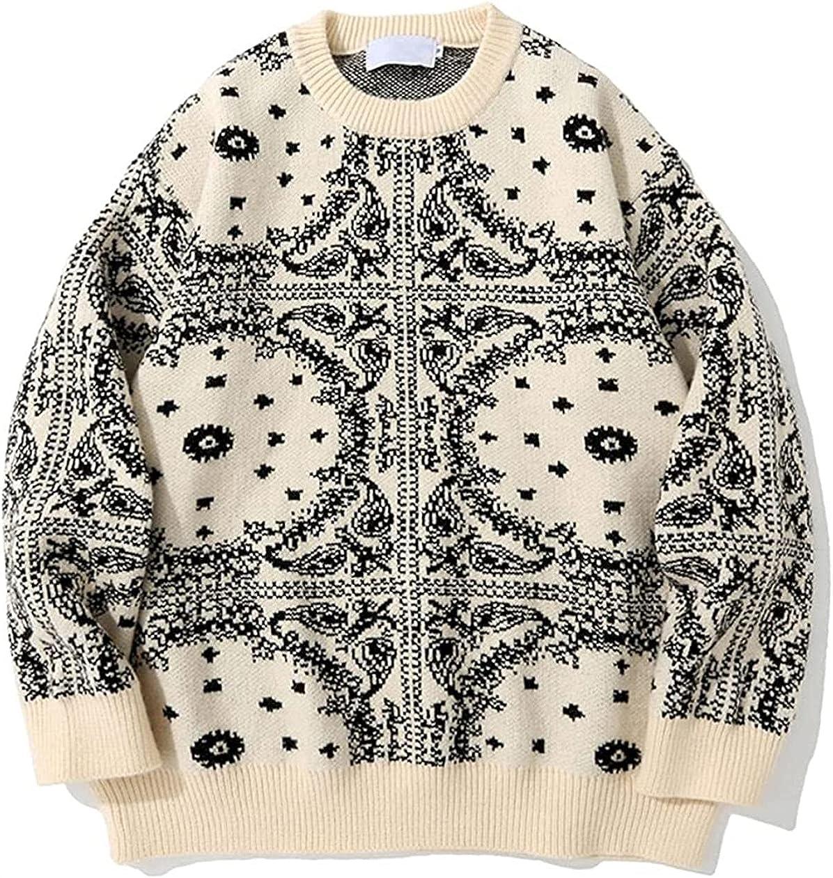 Men Sweater Streetwear Casual Pullover Tops Loose Harajuku Sweaters