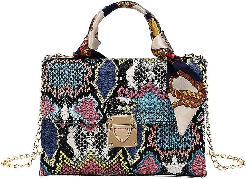 Women Colorful Al Many popular brands sold out. Snakeskin Print Shoulder Bag Crossbody Small Clut