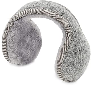 Earmuffs for Women Cozy Warm Winter Ear Muffs Cable knit Foldable Ear MuffsGray