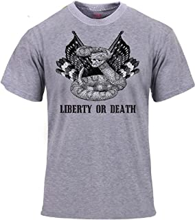 Heather Grey Liberty or Death Snake Revolutionary War T-Shirt