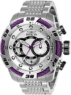 ساعة يد سبيدواي 27060 للرجال من انفيكتا، ستانلس ستيل كوارتز مينا بلون فضي، عرض انالوج
