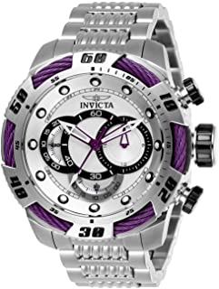 Invicta 27060 Speedway Men's Wrist Watch Stainless Steel Quartz Silver Dial, Analog Display