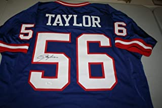 Ny Giants Lawrence Taylor 56 Lt Autographed Signed Memorabilia Jersey HOF 1999 JSA Certified