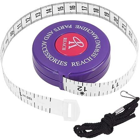 FEELCAT 巻き尺 自動巻取り式 テープメジャー 150cm/60inch 両面用 巻尺 PU&ナノ材料 超柔軟 高温抵抗 テーラーメジャー オートメジャー 周囲測定用 縫製テーラー定規 ソフトルーラー 裁縫用 手芸用 (パープル-300cm/120in)