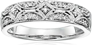 Sterling Silver Diamond Band Ring (1/20 cttw, I-J Color, I2-I3 Clarity)