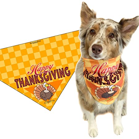 Fun Thanksgiving Dog Bandana Pilgrim Turkey Dog Bandana Cute Thanksgiving Dog Bandana Turkey Dog Bandana Thanksgiving Dog Bandana