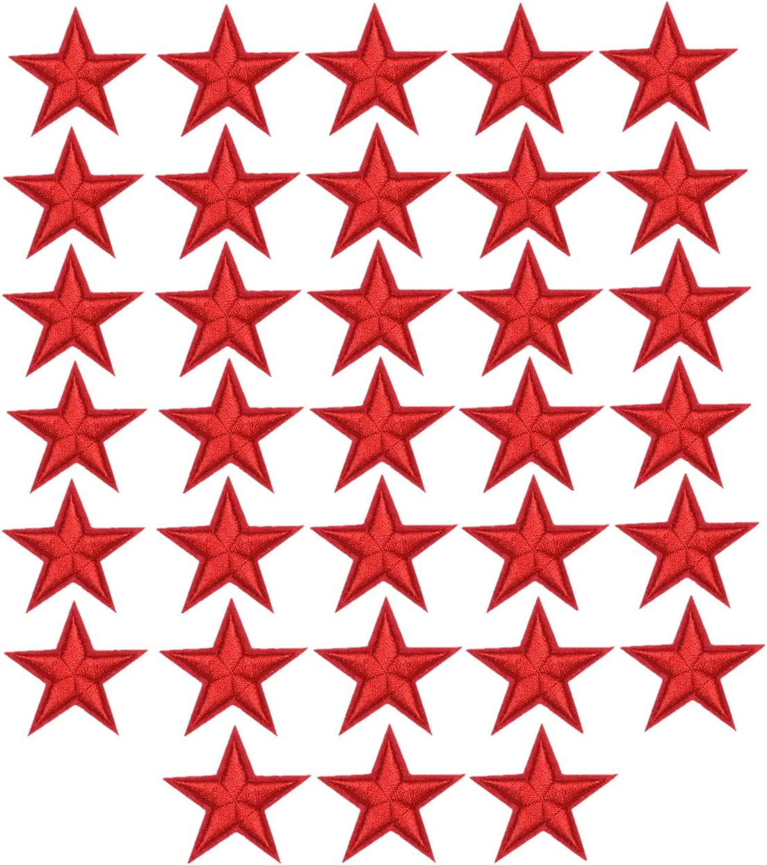 MSCFTFB 33 Pieces Assorted Colors Small 5 Omaha Mall Max 88% OFF Iron S Star Patches on