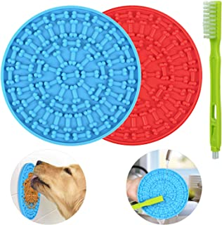Lick Mat for Dogs 2 Packs - OAPRIRE Dog Lick Mat with Super Suction, Reduce Daily Anxiety, Slow Feeder Lick Mat Suctions t...