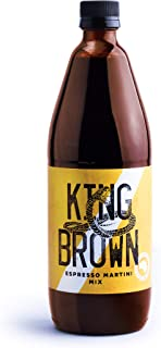 King Brown Espresso Martini Cocktail Mixer | 750ml | Thick Natural Foam | Single Origin | Australian Roasted and Brewed Co...