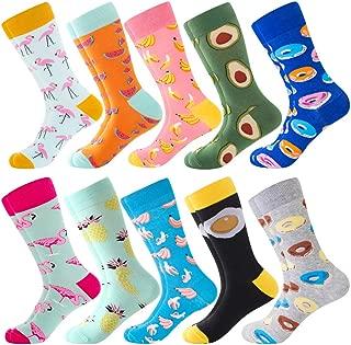 Calcetines de Colores GuKKK Calcetines Estampados 8 Pares Calcetines Hombres Mujer Divertidos Ocasionales Calcetines Divertidos Calcetines Algodon Estampados Impresos de Pintura de Arte