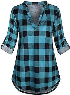 Toamen Womens Shirt Tops Sale 2019 Newest Ladies Button V