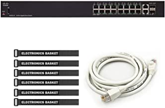 Cisco SG250-18 18-Port Gigabit Smart Switch + 5-Foot Ethernet Cable + Cable Ties - SG250-18-K9-NA