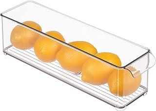 "iDesign Kitchen Binz BPA-Free Plastic Deep Stackable Organizer with Handles - 14.5"" x 4"" x 4"", Clear"