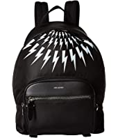 Neil Barrett - Nylon Printed Thunderbolt Fair Isle Backpack