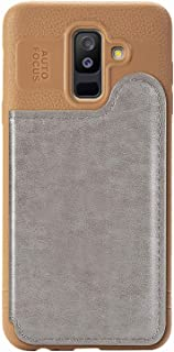 Matop Wallet Credit Card Holder Case Compatible with Samsung Galaxy A6 Plus(2018) Ultra Slim Litchi Leather Soft Bumper Shockproof Scratch-Resistant Protective Cover for Samsung Galaxy A6 Plus(2018)
