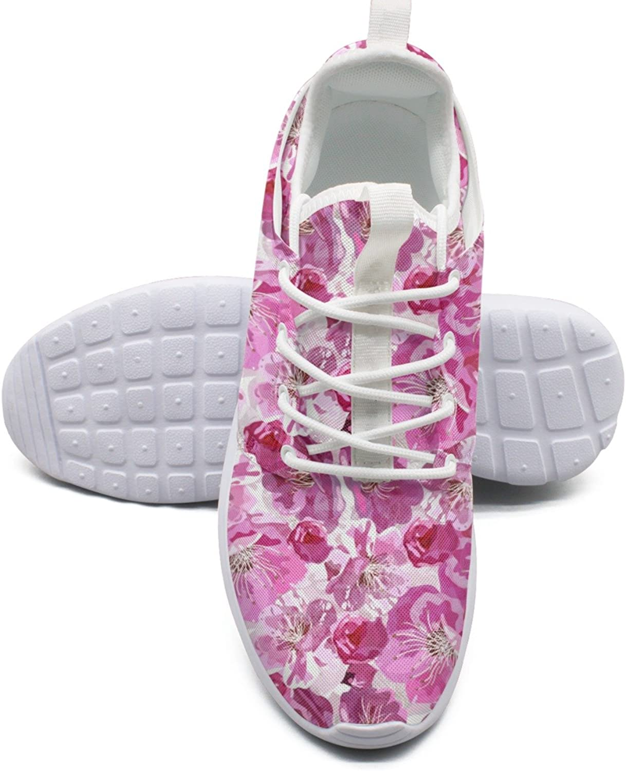 Cherry Blossom Flowers colorful Running shoes For Women size 10