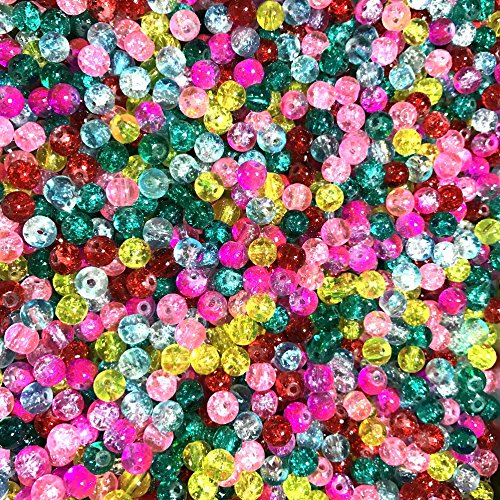 Ecloud Shop 250X Perle en Cristal Crystal Verre Rond 6mm Multicolor