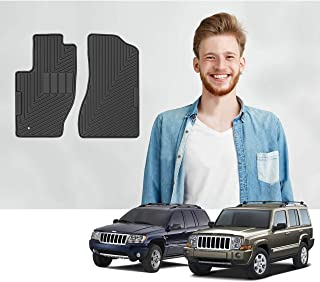 Road Comforts Custom Fit Jeep Commander 2006-2010 & Grand Cherokee 1999-2010 Car Floor Mats - All Weather Ultimate Protection with a Stylish Look - Front Row Only (2pcs) (Black)