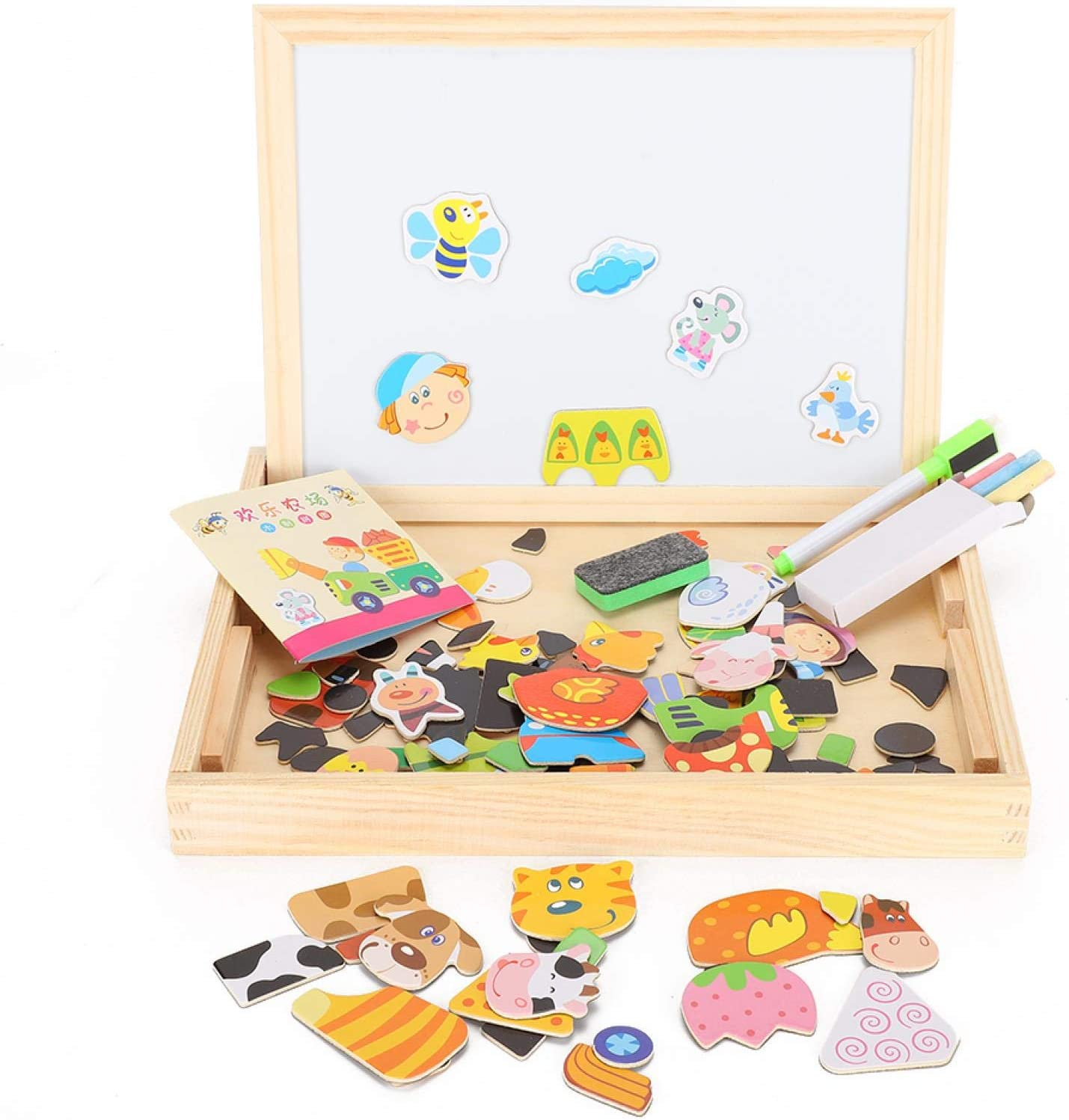 QYSZYG Double-Sided Magnetic Credence It is very popular Drawing Board Children's Edu Puzzle