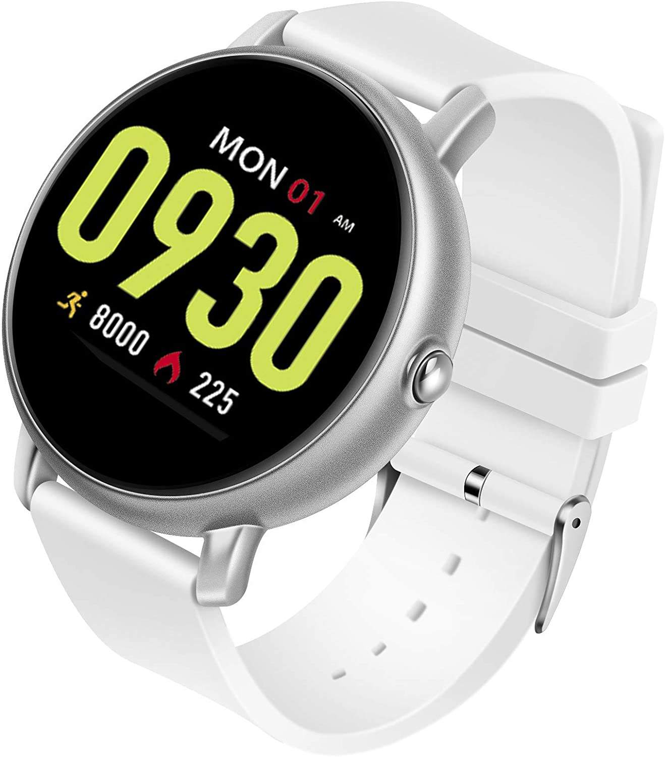 Smart Sports Watch, Fitness Tracker, Heart Rate Blood Pressure Monitoring, IP68 Waterproof, Smart Reminder, blueeetooth Call, Message Push