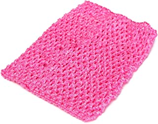 cici store 12 Inch Tutu Skirt Crochet Top DIY Accessories (hot pink)