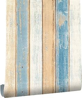 HaokHome 610991-3 Vintage Wood Plank Wallpaper Rolls 17.7