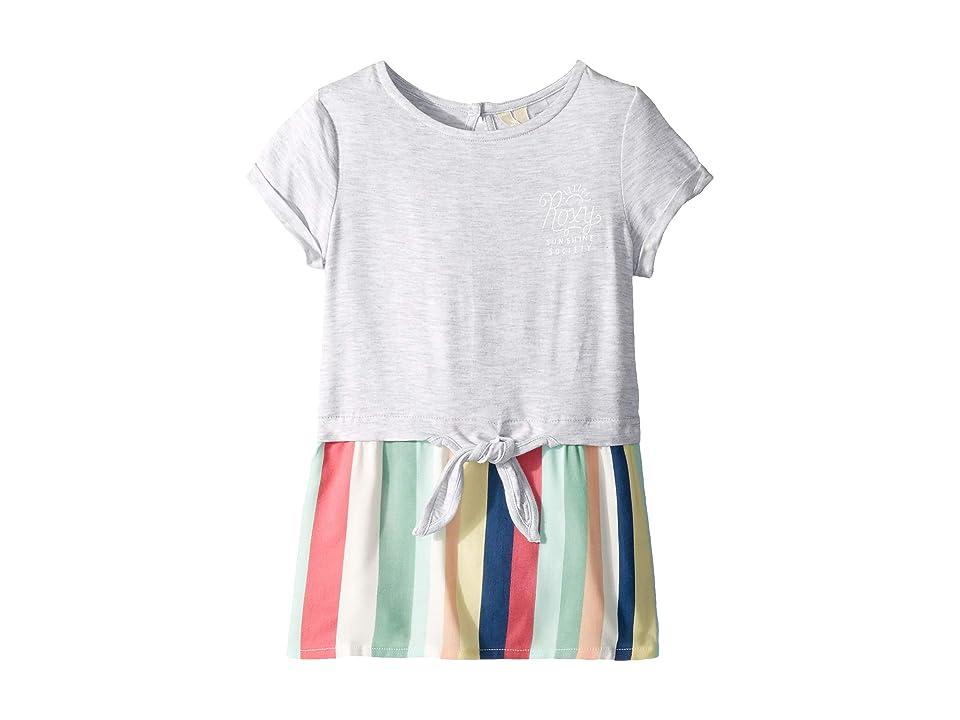 Roxy Kids Pretty Forest Dress (Toddler/Little Kids/Big Kids) (Marshmallow Tenie Stripe) Girl
