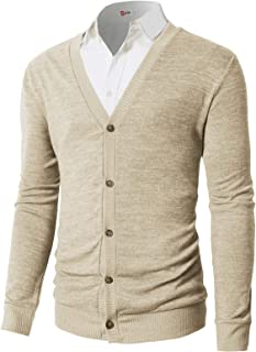 Mens Casual Slim Fit Cardigan Sweaters V-Neck Long Sleeve Button-Down Basic Designed