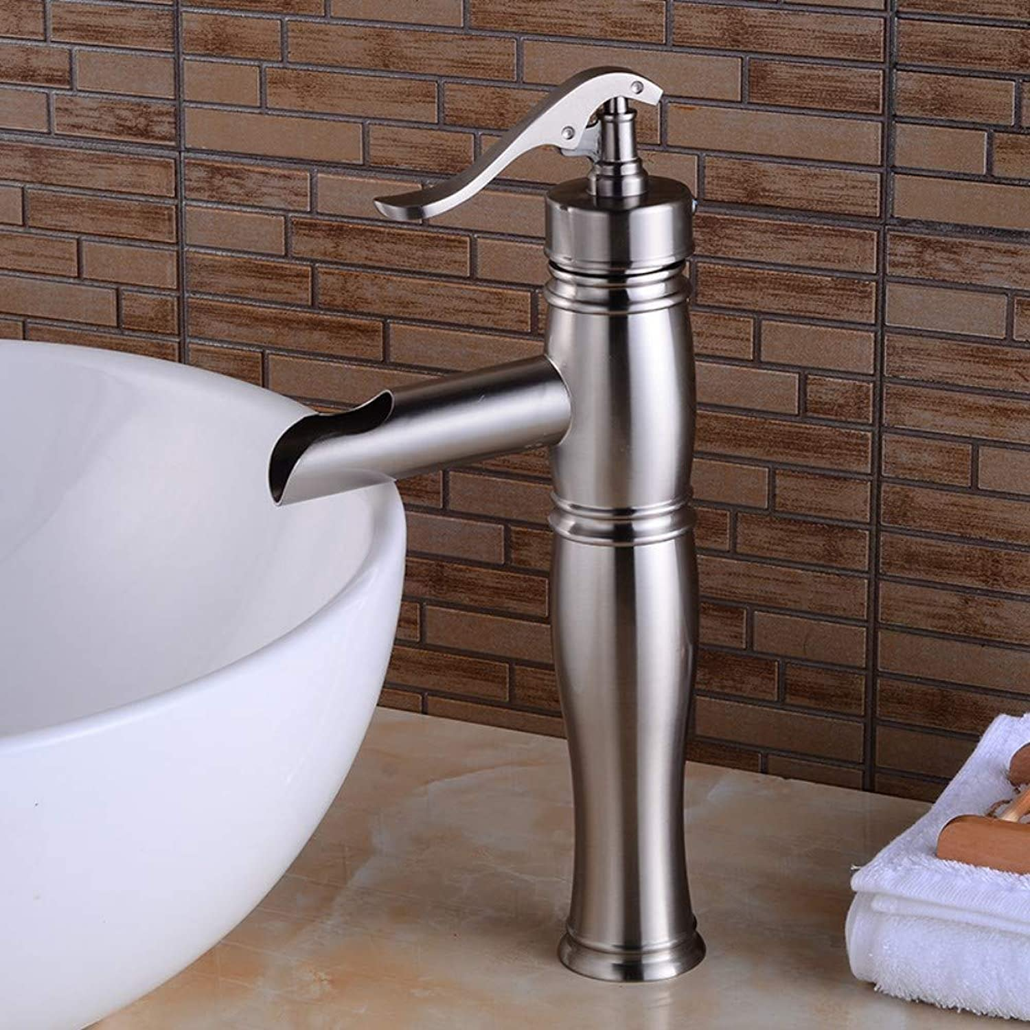 Chrome-Plated Brass Kitchen Faucet Bathroom Basin Faucet Copper Faucet Kitchen Bathroom Bathroom Lift Faucet