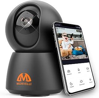 مورلی FHD30 وای فای دوربین امنیتی خانگی هوشمند 1080P مانیتور کودک بی سیم داخلی با برنامه تلفن ، دید در شب ، صدای دو طرفه برای پرستار بچه ، حیوان خانگی ، سگ ، گربه ، با الکسا و Google iOS Android کار می کند