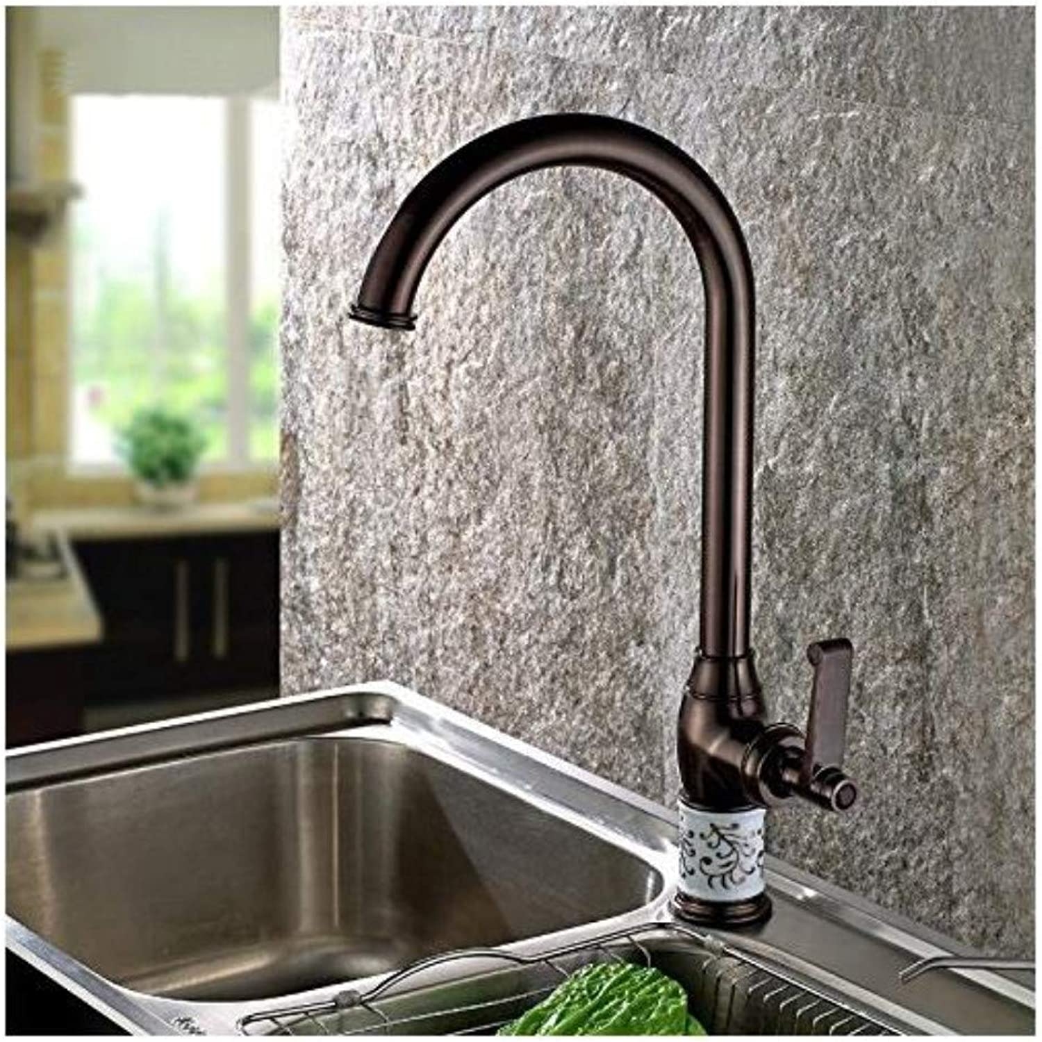 Vintage Plated Faucet Faucet Antique redated Mixer Tap Kitchen Basin Faucet Vintage Brass Basin Faucet Hot and Cold