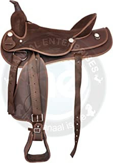 Manaal Enterprises Synthetic Suede Australian Stock Saddle with Horn Size- 15