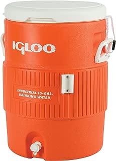 Igloo Seat Top Beverage Dispenser, Orange/White, 10 Gallon