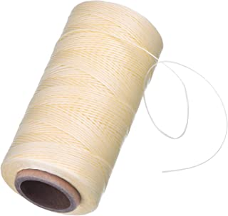 eBoot 260m 150D 1 mm Leather Sewing Waxed Thread Cord for Leather Craft DIY (Beige)