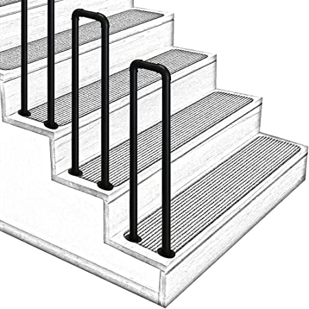 WL-ZZZ Solid Wood Stair Banister Railing Support Rod Stair Handrails for Indoor Outdoor Corridor Attic Anti-Slip Safety Handrail with Stainless Steel Brackets Kit Size : 30cm//12inch