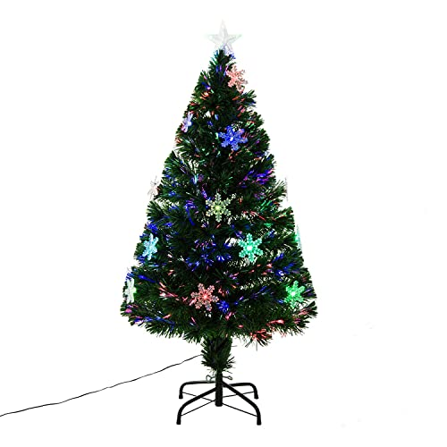 Artificial Christmas Trees Amazon Uk: 4ft Christmas Trees Fibre Optic: Amazon.co.uk