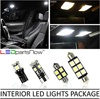 LEDpartsNow Interior LED Lights Replacement for 2007-2015 Mitsubishi Lancer Evolution EVO X Accessories Package Kit (6 Bulbs), WHITE