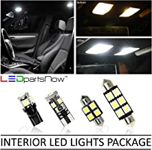 LEDpartsNow Interior LED Lights Replacement for 2007-2012 Mazda CX-7 CX7 Accessories Package Kit (4 Bulbs), WHITE