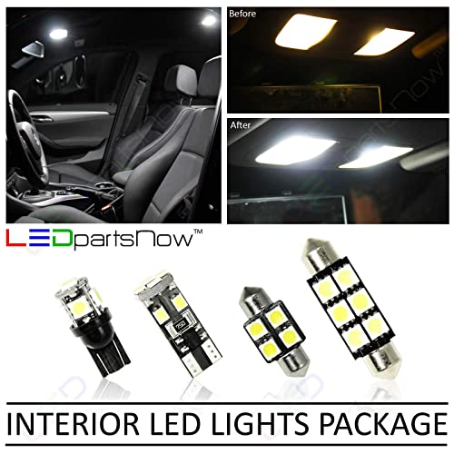 LEDpartsNow Interior LED Lights Replacement for 2007-2013 Chevy Silverado Accessories Package Kit (12 Bulbs), WHITE