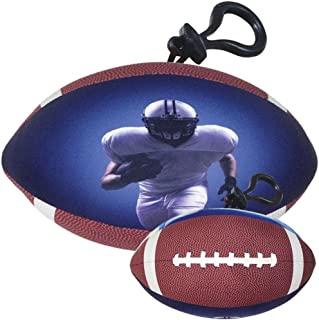 iscream Game On! Bubble Gum Scented Football Mini Microbead Pillow Backpack Charm