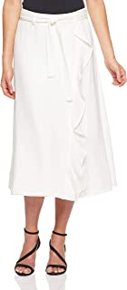 CALVIN KLEIN Women's Ruffle Skirt, Soft White, 4