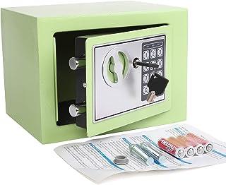 Yuanshikj Electronic Deluxe Digital Security Safe Box Keypad Lock Home Office Hotel Business Jewelry Gun Cash Use Storage (Light Green 17E)