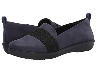 Clarks Ayla Sloane (Navy Synthetic Nubuck) Women