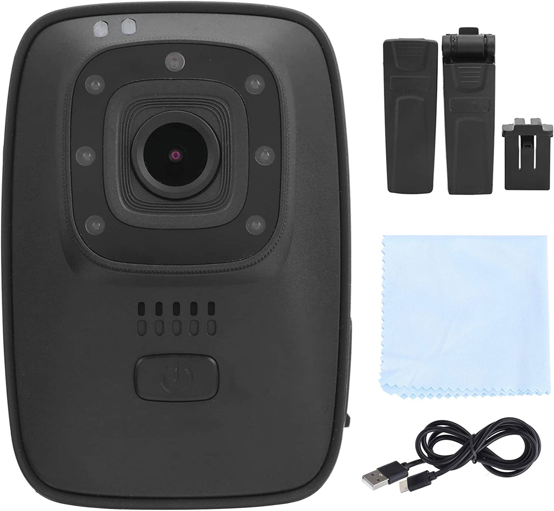 Akozon HD Body Camera A10 Portable Law Enforcement Recorder Waterproof Meeting Record Body Camera for Body Cameras for Law Enforcement